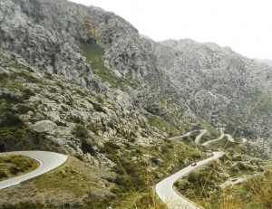 A section of the Sa Calobra climb