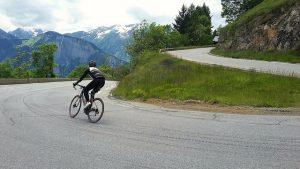 Mike descends Alpe d'Huez