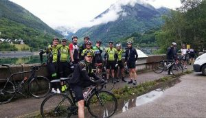 The team at Allemont dam.