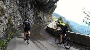 A road cut into the rock face - don't look right!