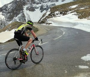 Gary on the final ramps of the Galibier